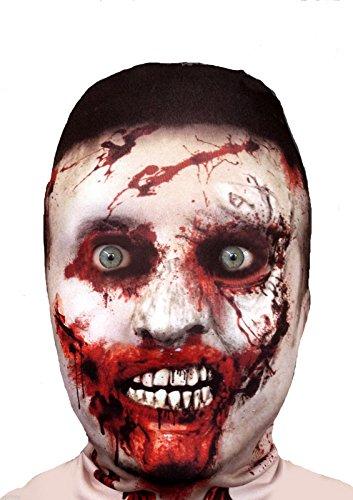 FACE SKINZ - 3D EFFECT ZOMBIE FACE Lycra Face Mask ()