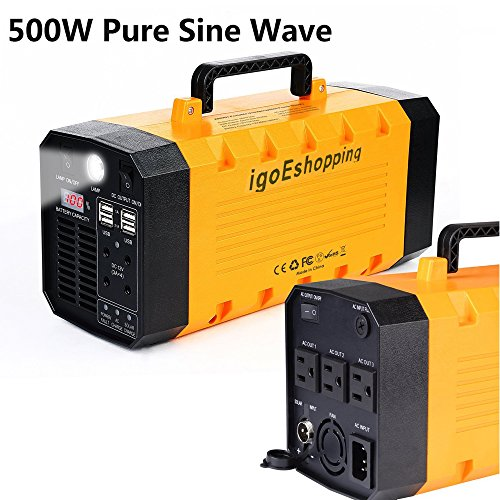 (Pure sine wave) igoeshopping Portable Uninterruptible power supply (UPS) & Power Backup with built-in 26A Lithium battery, Used in emergency outdoor indoor for USB DC AC devices by igoeshopping (Image #7)