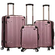 Rockland London Hardside Spinner Wheel Luggage, Pink