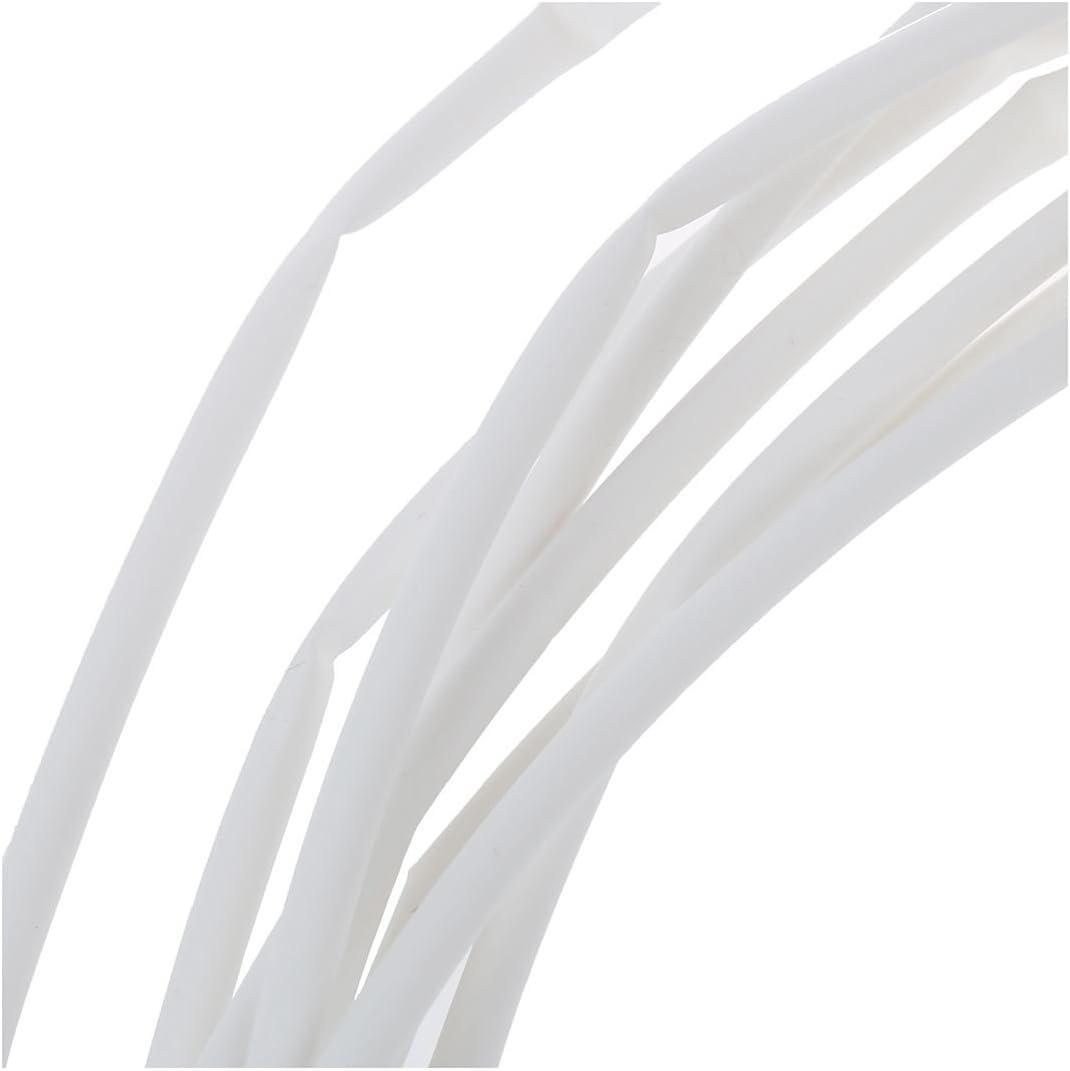 Summerwindy Ratio 2 1 tube thermoretractable en polyolefine blanc de diametre de 5mm et de long de 10M 32.8ft
