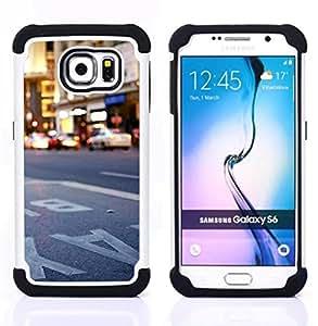 GIFT CHOICE / Defensor Cubierta de protección completa Flexible TPU Silicona + Duro PC Estuche protector Cáscara Funda Caso / Combo Case for Samsung Galaxy S6 SM-G920 // NYC New York City //