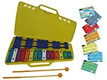 D'Luca TL25S 25 Notes Full Chromatic Xylophone Glockenspiel with Music Cards
