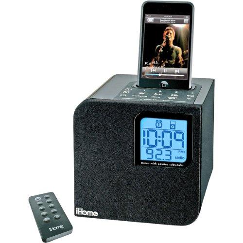 iHome iH12 Clock Radio Black