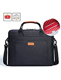 Laptop Shoulder Bag, KALIDI 17.3 Inch Notebook Briefcase Messenger Bag for Dell Alienware / Macbook / Lenovo / HP , Travelling, Business, College and Office