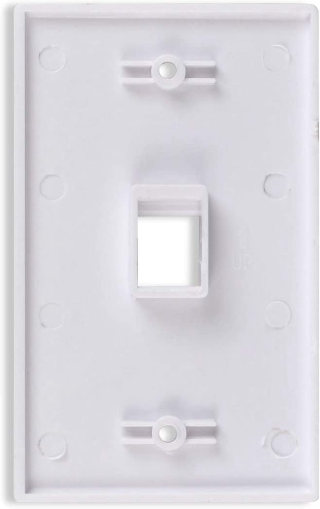 Conwork 12-Port Keystone Wall Plate 2-Gang Compatible with Standard Keystone Jack and Modular Inserts 4-Pack
