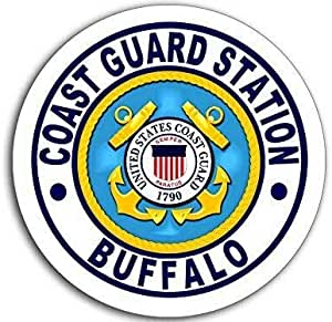 Amazon Com Magnet 4x4 Inch Round Coast Guard Station