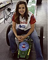 ASHLEY FORCE AUTOGRAPHED 8x10 PHOTO+COA NHRA DRIVER+HER CAR