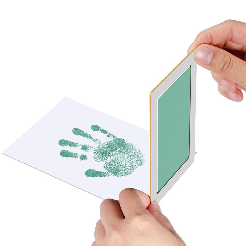 Tatzendruck Stempelkits f/ür 0-6 Monate Babyparty Geschenk PChero Baby Handabdruck und Fu/ßabdruck Stempelkissen Schwarz + Blau, A