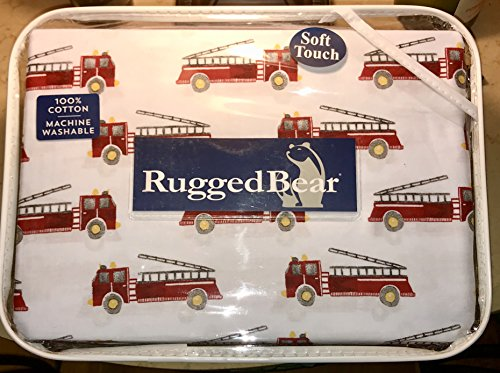 INE / FIRE TRUCK COTTON sheet set - 3-pc TWIN SIZE set (Cotton Fire Engine)