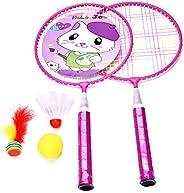 Kids Badminton Set with 2 Kids Rackets,3 Badminton Balls for Kids,Indoor/Outdoor Sport Game