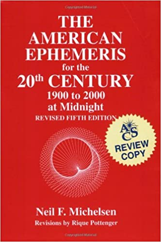 American Ephemeris for the 20th Century 1900 To 2000 at Midnight//5th Revised