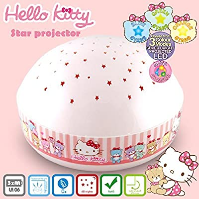 """Hello Kitty""""Touch Active, Easy Clean"""" Twilight Constellation Galaxy Night Light Star Projector by Lumitusi (Hello Kitty): Baby"""