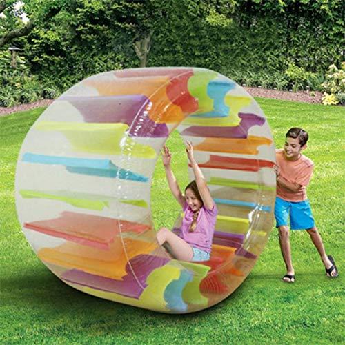 Foviza Large Inflatable Land Wheel Jumbo Party Wheel Kids Indoor Outdoor Pool Playing