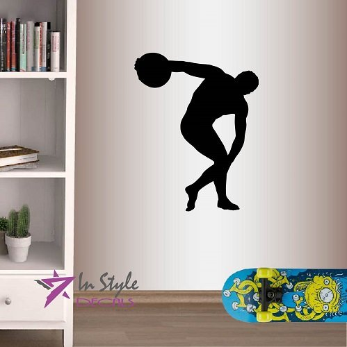 In-Style Decals Wall Vinyl Decal Home Decor Art Sticker Discobolus Discus Thrower Ancient Greek Athlete Sportsman Sports Fitness Gym Room Removable Stylish Mural Unique Design 531 (Best Exercises For Discus Throwers)