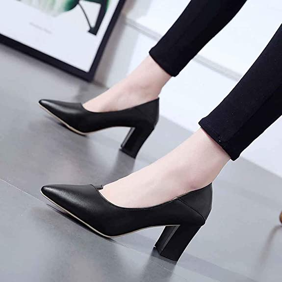 Lurryly❤Womens Fashion Winter Boots Thick Heel Pumps Boot Classic Shoes