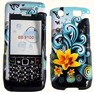 Hard Yellow Flower Case Cover Faceplate Protector for Blackberry Pearl 3G 9100 9105 with Free Gift Reliable Accessory Pen