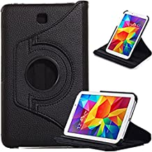 Galaxy Tab 4 7.0 Case, Jwest Samsung Galaxy Tab 4 7.0 Case, PU Leather 360° Rotating Stand Case Flip Cover for Samsung Galaxy Tab 4 7-Inch / Galaxy Tab 4 7.0 (Galaxy Tab 4 7.0 Black)