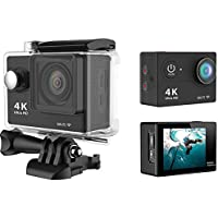 GeckoG 4K Wi-Fi sports Action Camera Ultra HD Waterproof DV Camcorder 16MP 170 degree Wide Angle LCD (Camera + 32G memory card)