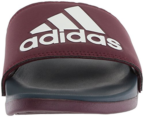 adidas Men's Adilette Cf+ Logo Slide Sandal Maroon/Collegiate Navy/White outlet marketable cheap sale lowest price FM6BE