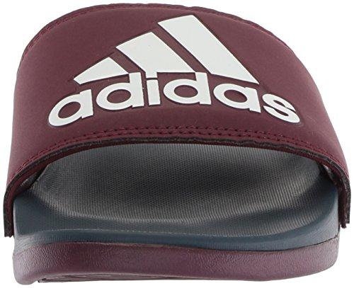 Adidas Man Adilette Cf + Logo Slide Sandal Rödbrunt / Kollegialt Marinblå / Vit