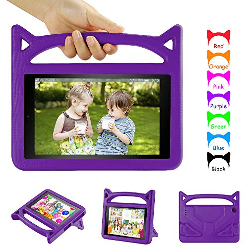 Fire 7 Tablet Case Kids,All New Fire 7 2019 Case,DiHines Light Weight Shock Proof Handle Friendly Stand Kid-Proof Case for All New Amazon Fire 7 Tablet Cover(2015&2017&2019 Release)
