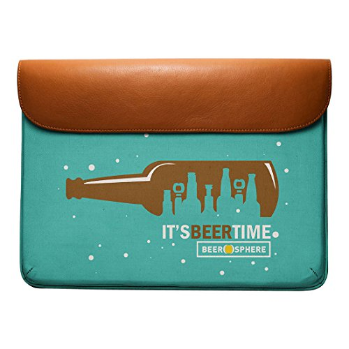 Air O'Clock Pro DailyObjects Leather Sleeve Real MacBook Envelope 13 Beer For 8zcacfp