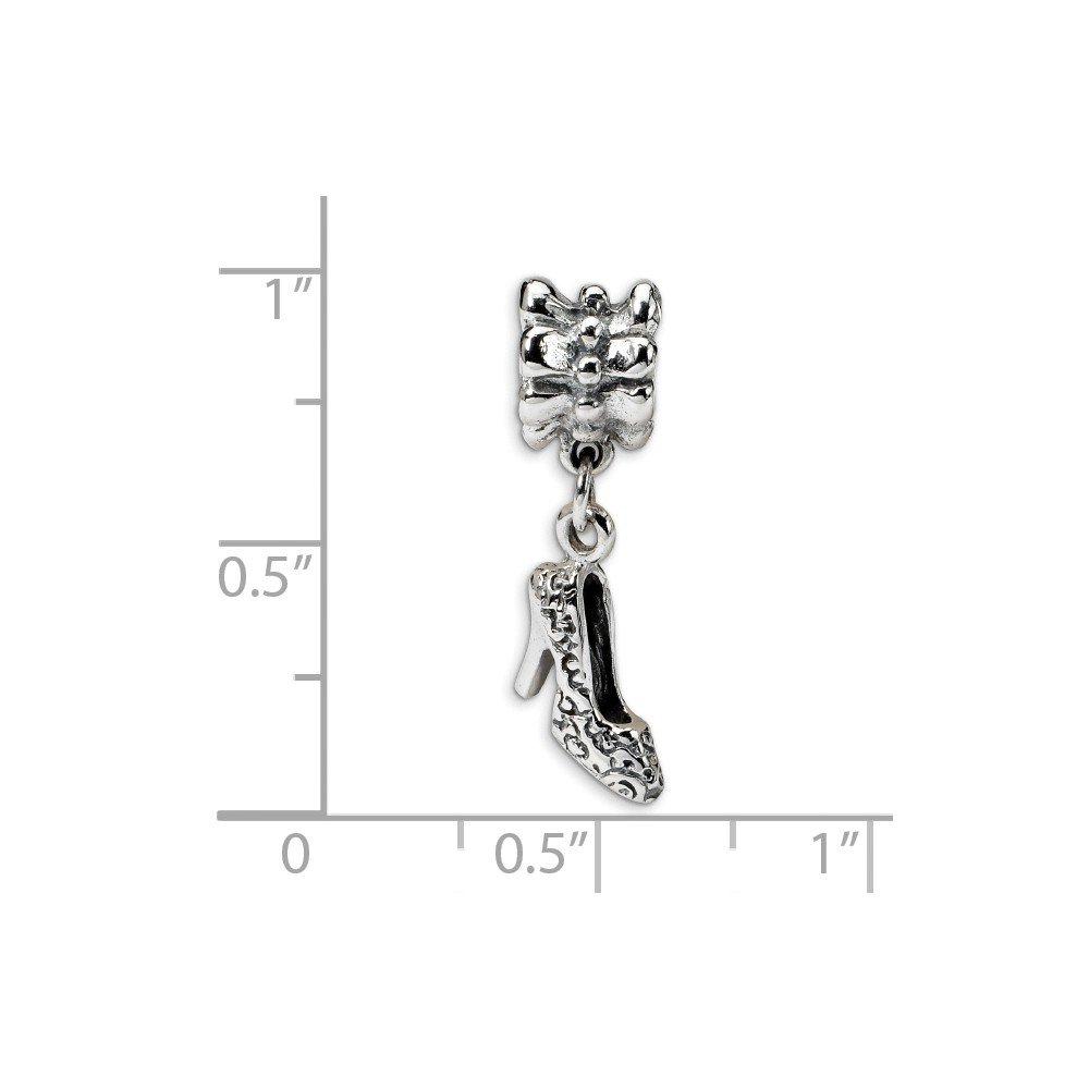 Black Bow Jewelry Sterling Silver High Heel Dangle Bead Charm