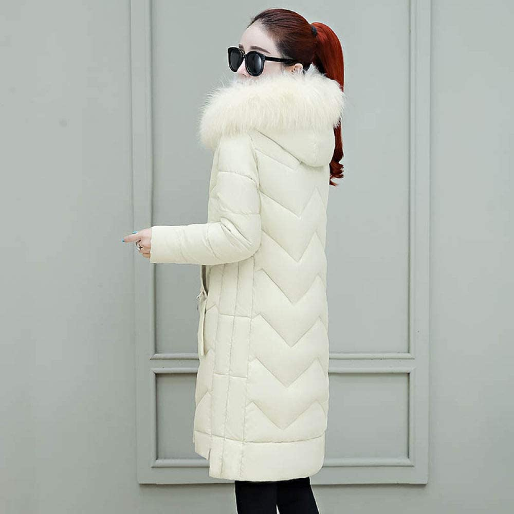 KTUCN Down jacket Winter Parkas jackets 2020 winter women's coats fashion hooded collar thick long cotton coats -30 degree snow jacket coat Ivory white