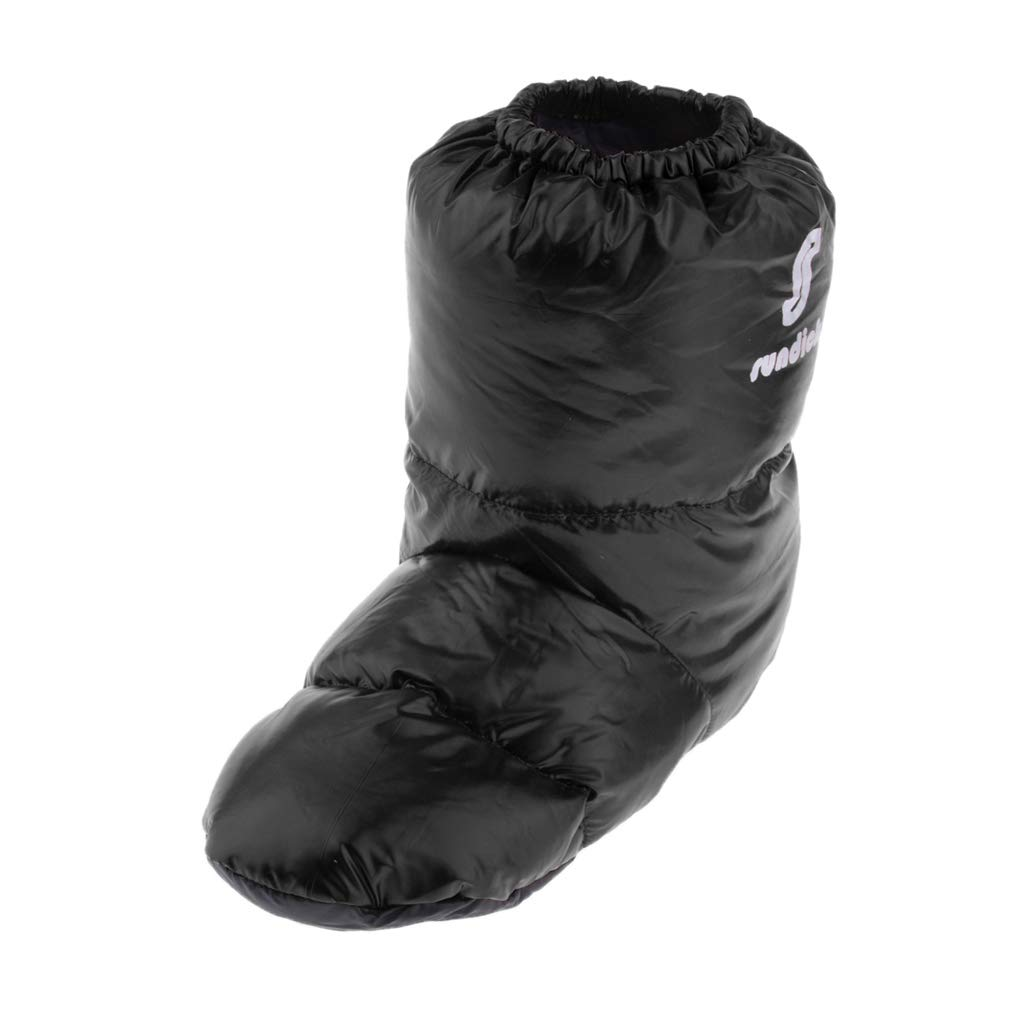 Toygogo Waterproof Camping Tent Slippers Duck Down Filled Soft Boots Flexible Shoes