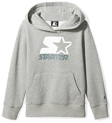Starter Girls' Pullover Multi-Color Logo Hoodie, Prime Exclusive, Vapor Grey Heather, S (Multi Color Pullover)