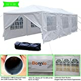 VINGLI Bonnlo 10' x 30' Heavy Duty Canopy Wedding Party Tent with 8 Removable Sidewalls,Upgraded Steady Sunshade Winter Snow Shelter Outdoor Carport Event Gazebo Pavilion,w/ Carrying Bag