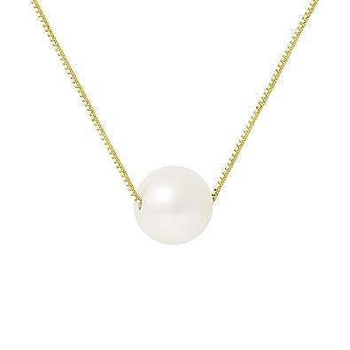 255384d4f7b Pearls   Colors - Collier Avec Pendentif - Or Jaune 9 Cts - Perle d ...
