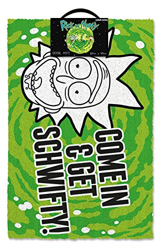 Cartoon Network Zerbino Rick & Morty Get Schwifty, Gomma da Cancellare, Multi Coloured, 40 x 60 cm Pyramid International GP85191