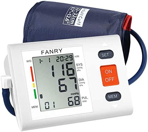 Blood Pressure Monitor Upper Arm,Accurate Automatic Digital Bp Machine with 8.7''-12.6'' Adjustable Cuff for Home Use,Fast Reading Irregular Heartbeat and 90-Readings Memory,4AA Batteries Included