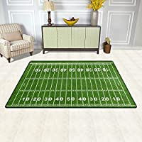 DEYYA American Football Field Non-slip Area Rugs Pad 60 x 39 inches, Modern Floor Mat Living Room Bedroom Carpets Doormats Home Decor