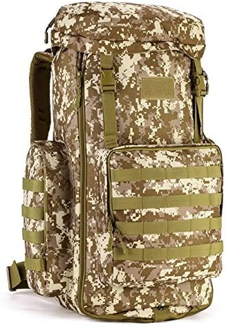 iEvolve Adjustable Volume 70-85L Military Army Patrol MOLLE Assault Pack Tactical Combat Rucksack Backpack