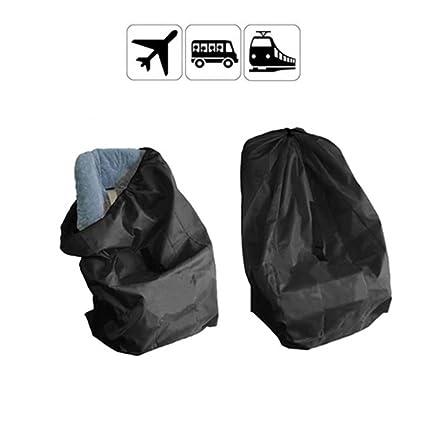 Yuccer Funda para asiento de coche, protector del recorrido del viaje del control de la puerta con la correa para el avión acolchado (Black) (Negro)