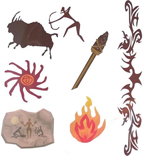 Stone Age Temporary Tattoos -
