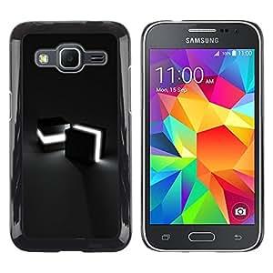 LECELL -- Funda protectora / Cubierta / Piel For Samsung Galaxy Core Prime SM-G360 -- Light Cubes --