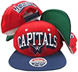 Washington Capitals Red/Navy Two Tone Snapback Adjustable Plastic Snap Back Hat / Cap