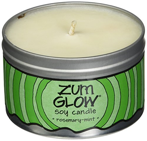 Indigo Wild Zum Glow Soy Candles, Rosemary and Mint ()
