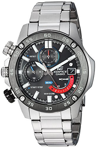 Casio Men's Edifice Quartz Watch with Stainless-Steel Strap, Silver, 20.5 (Model: EFR-558DB-1AVCF )