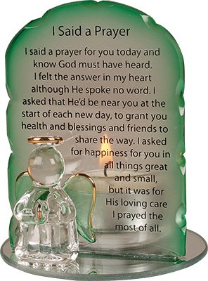 Glass 'I Said a Prayer' Guardian Angel Candleholder (5056)