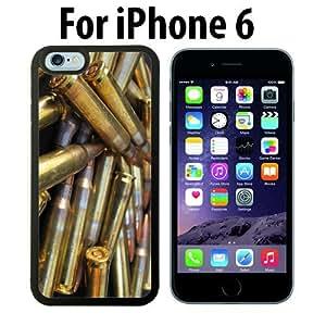 Bullets Ammunition Custom Case/ Cover/Skin *NEW* Case for Apple iPhone 6 - Black - Rubber Case (Ships from CA) Custom Protective Case , Design Case-ATT Verizon T-mobile Sprint ,Friendly Packaging - Slim Case by icecream design