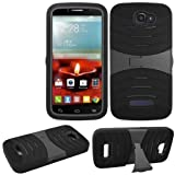 Phone Case for Alcatel Onetouch Pop Icon A564c/7040T Rugged Heavy Duty Armo Cover Black Stand by Cellpak