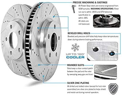 Check Fitment Chart Detroit Axle 13.58 345mm Premium FRONT Brake Rotors for Mecedes Models