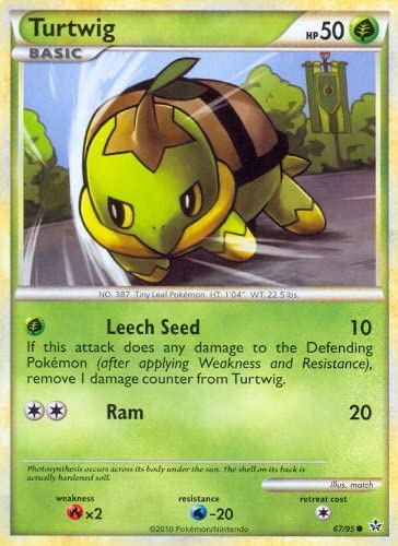 Pokemon Legend HS2 Unleashed Single Card Turtwig #67 Common [Toy]: Amazon.es: Juguetes y juegos