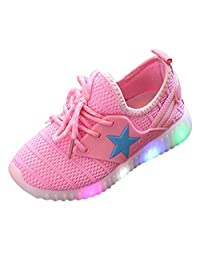 XILALU Toddler Baby Fashion Sneakers Star Luminous Child Casual Colorful Light Shoes