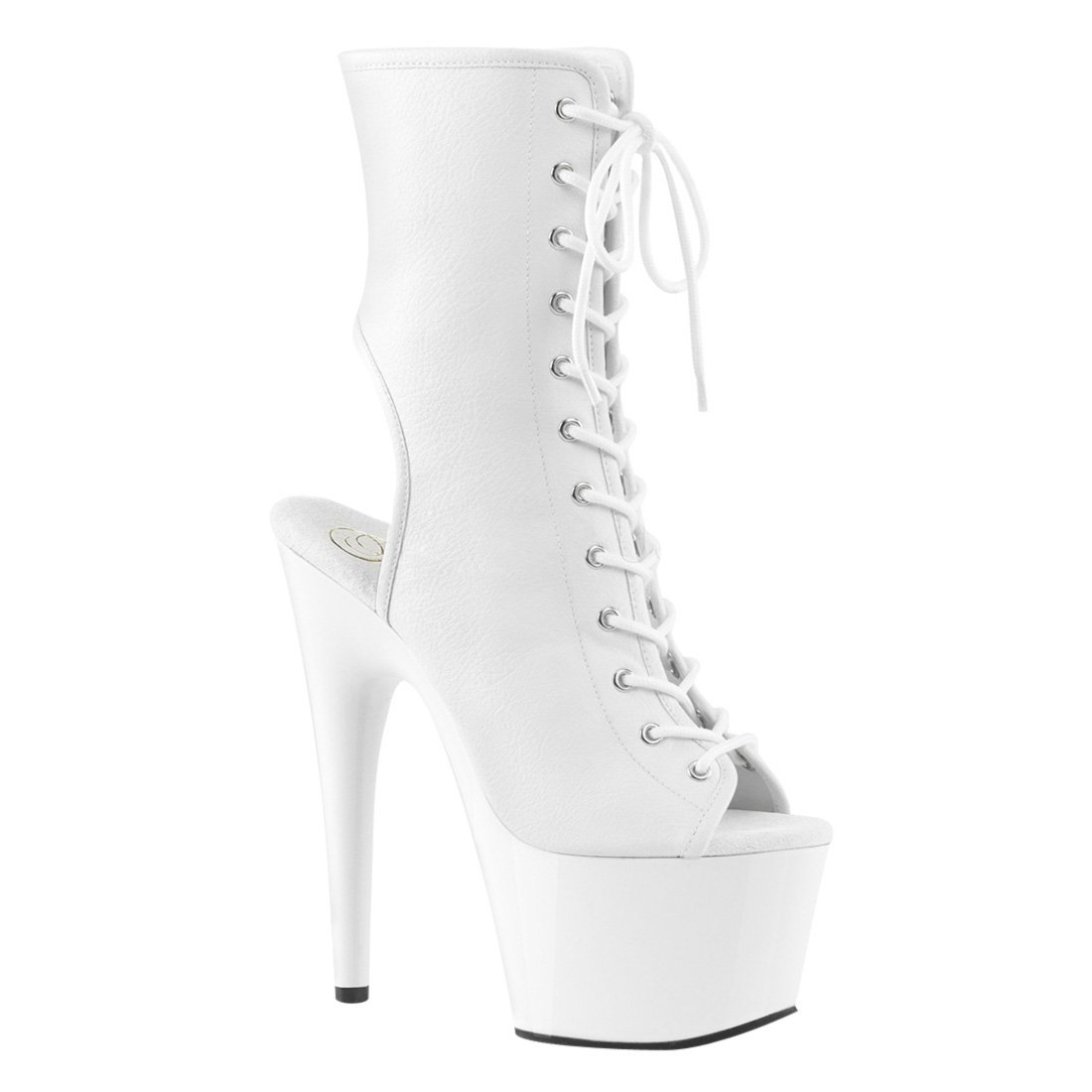 Pleaser Women's Adore-1016 Ankle Boot B01MXK64QU 9 B(M) US|White Faux Leather/White