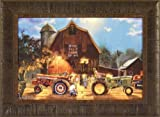 The Rematch by Dave Barnhouse 17x23 John Deere Farmall Tractors Tractor Pull Barn Farm Americana Framed Art Print Picture